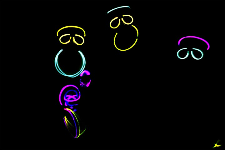 Perform the glowing stick dance