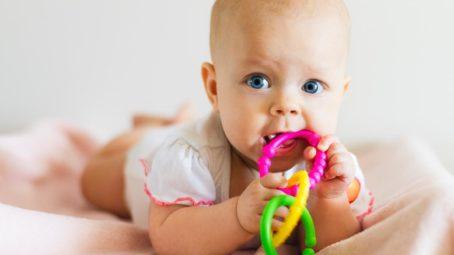Three-Month-Olds Teething
