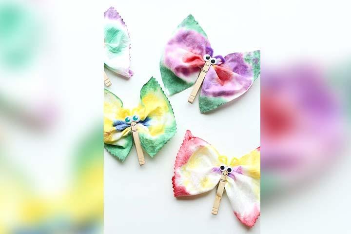 Tie-dye baby wipes butterfly