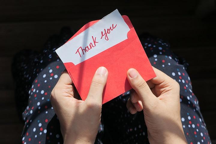 "Write ""Thank You"" notes"