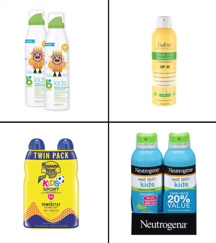 Best Spray Sunscreens For Kids