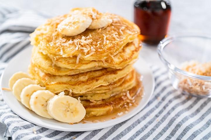 Coconut and banana pancake