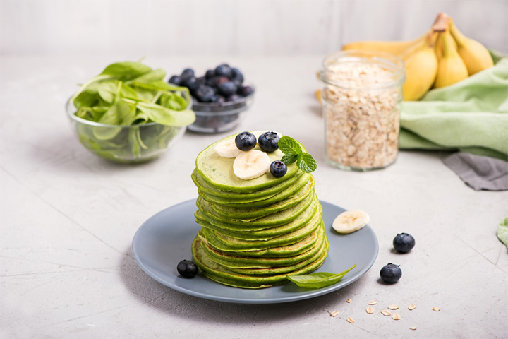 Spinach and oats pancake