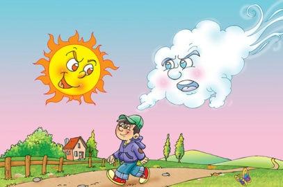 सूर्य और वायु की कहानी   Sun And Wind Story In Hindi