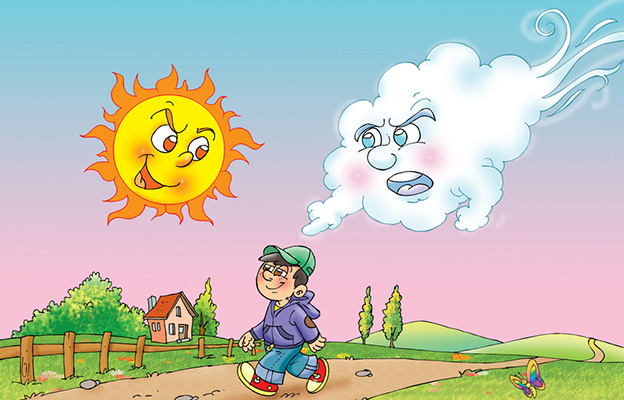 Sun And Wind Story In Hindi