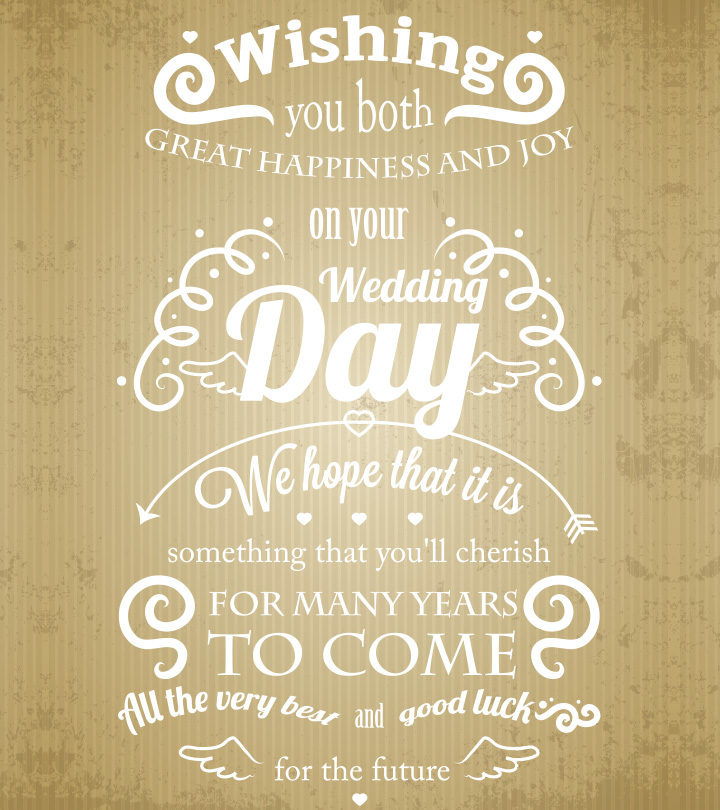 Wedding Wishes And Messages To Congratulate The Couples